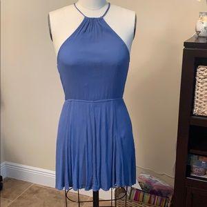 S blue halter dress